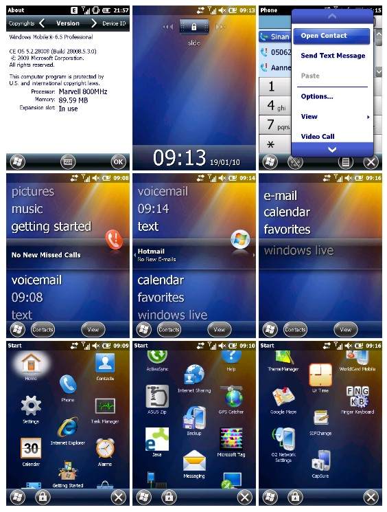 Asus P565'imi Windows Mobile 6.5'e Yükselttim